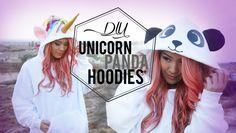 DIY Cosplay Unicorn & Panda Costume Hoodies | ANNEORSHINE