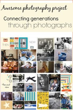 Great idea to connect generations through photographs. Comparing photos of every day moments/things from our past to the photos of every day moments/things now. Cool to see how some things have changed so much and some things haven't changed at all. Layouts using the Project Life App.