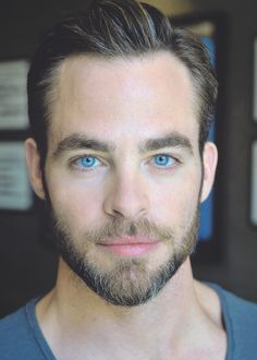 Wow. Those eyes. Chris Pine