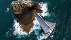 Sail around Nine Pin Rock. A short 15 nautical mile sail past craggily majestic Nine Pin Rock, famed for framing many a hairpin turn by competitors in the NZ Millennium Cup, leaves guests to alight on Waiti Bay, in the Cavalli Islands. Luxury Sailing Yachts, Paradise Bay, Utility Boat, Bay Of Islands, Auckland New Zealand, Vintage Boats, Super Yachts, Small Boats, Boat Plans