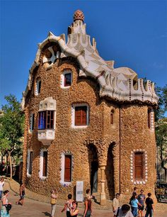 Wonder how to translate this into gingerbread....  Entrance to Park Guell - cacam @ TrekEarth - Pixdaus