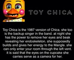 Omg toy chica is my absolute fave. This is awesome Five Nights At Freddy's, Fnaf Theories, Scary Games, Fnaf Sl, Fnaf Characters, Fnaf Sister Location, Fnaf Drawings, Freddy Fazbear, Septiplier