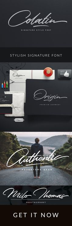 Colatin is handmade signature style font with stunning characters. Ideal for logos, name tag, handwritten quotes, product packaging, merchandise, social media & greeting cards. It contains a full set of lower & uppercase letters, a large range of punctuation, numerals, and multilingual support.