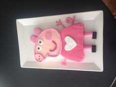 My finished peppa pig cake