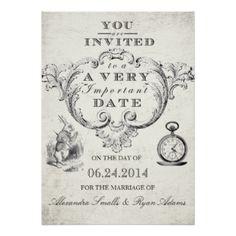 Alice In Wonderland Wedding Cards, Alice In Wonderland Wedding ...