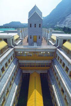 Tecnoparco del Lago Maggiore (1993-97) | Aldo Rossi Bauhaus, Aldo Rossi, Michael Graves, Art Deco, Famous Architects, Northern Italy, Ares, Architecture, Mansions