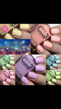 Color Club - Poptastic Pastel Neon collection