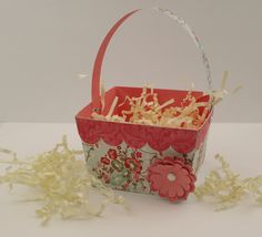3D Basket with Flowers from Silhouette - justmaketime.com