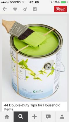Use An Elastic Band Around The Paint Can To Take Off Extra Paint! #Home #Garden #Trusper #Tip