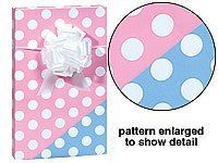 New Trendy Reversible Pink or Blue Polka Dot Baby Girl or Boy Gift Wrap Wrapping Paper 16 Foot Roll MTBH http://www.amazon.com/dp/B004T1TBL0/ref=cm_sw_r_pi_dp_wsKHvb181P56N