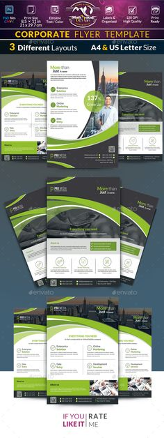 Clean Corporate Flyer Template Flyer template, Business flyers - corporate flyer template