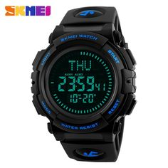 Buy Men's Military Sports Digital Watch with Survival Compass Waterproof Countdown 3 Alarm Stopwatch Mens Sport Watches, Best Watches For Men, Man Watches, Couple Watch, Hand Watch, Casio Watch, Digital Watch, Fashion Watches, Manish