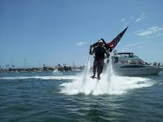 Jetlev flying in Newport Harbor for Fourth Of July 2011 -- awesome