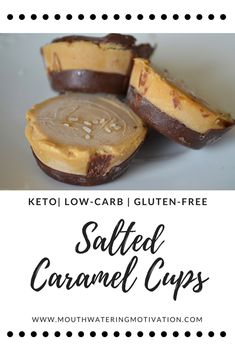 Salted Caramel Cups #keto #lowcarb #glutenfree #saltedcaramel