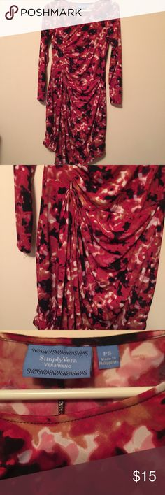 Vera Wang wrap dress Lovely vera wang wrap dress. The skirt is the part that wraps. Size small. Gently used and in excellent condition! Vera Wang Dresses Midi