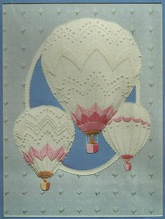 Vintage Monarch Horizons Hot Air Balloons Candlewicking Sculpted Stitchery Kit | eBay