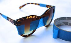 "DIY: Tortoise and Turquoise Sole Society ""Smythe"" Sunglasses"