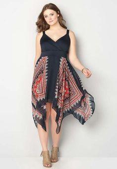 0740c17c086 Длинные платья и сарафаны в стиле бохо-шик для полных модниц американского  бренда Avenue