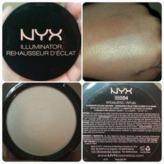 "NYX Illuminator in ""Ritualistic."" A beautiful white gold highlighter. Very soft and smooth. Makeup To Buy, Highlighter Makeup, Makeup Swatches, Makeup Dupes, Makeup Geek, Makeup Inspo, Makeup Addict, Makeup Inspiration, Beauty Makeup"