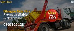 Skip hire company that provides a number of different size skips sizes around Glasgow