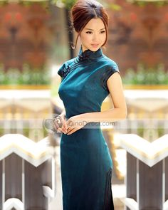 Love Chinese traditional dresses.  Esp collar/and sleeves.  Fitted around top…