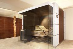 Designsauna mit viel Glas #Erdmann #Sauna #ErdmannSaunabau #ErdmannExklusiveSaunen #Glas #Puristisch #Spa #Wellness