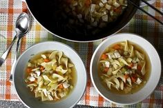 Classic Chicken Noodle Soup | 24 Delicious DIY Cures For A Cold Or Flu