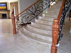 Wrought Iron Balustrade www.realsec.co.za Gates, Wrought Iron, Stairs, Steel, Beautiful, Classic, Home Decor, Derby, Stairway