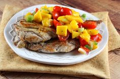 Orange- Ginger Pork Cutlets with Mango- Tomato Salsa | Recipe Girl