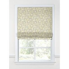 "Loom Decor Scalloped Flat Roman Shade Length: 72"", Width: 27"""