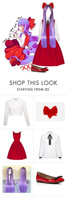 """Ellen (Witch's House) Cosplay"" by monokumaa ❤ liked on Polyvore featuring Alice + Olivia and Furla"