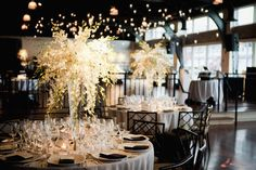 beautiful wedding tables for a reception.
