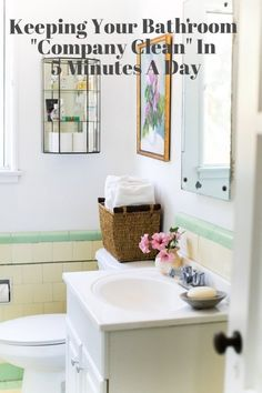 "Keeping Your Bathroom ""Company Clean"" In 5 Minutes A Day 