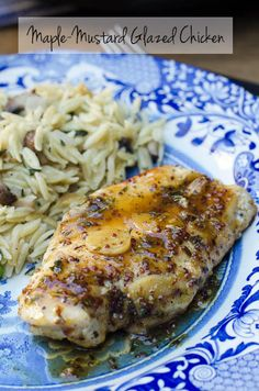 Maple-Mustard Glazed Chicken - a super comforting and delicious 30 minute meal!