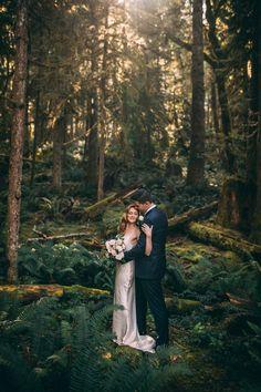 Forest portrait taken at the gorgeous Westcoast Wilderness Lodge in Egmont, BC, Canada Best Wedding Venues, Elope Wedding, Destination Wedding, Sunshine Coast Bc, Boudoir Photographer, Elopements, Intimate Weddings, Traditional Wedding, West Coast