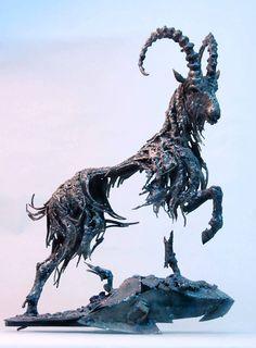 Metal sculptures by Hasan Novrozi. Ignoring the majestic horses, I like his style. https://www.facebook.com/hasan.novrozi