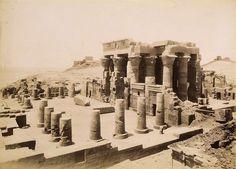Koum Ombus, vue du temple, après 1862 | Attribué à Antonio Beato