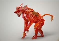 Gilles Cenazandotti Transforms Ocean Debris into Animal Sculptures   Hi-Fructose Magazine