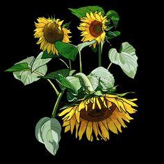 Sunflowers on Photo Block Photo Blocks, Painting Flowers, Sunflowers, Website, Printed, Digital, Plants, Prints, Plant