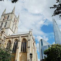 London ancient vs. London modern. One of the reasons why I adore my adopted city... #LoveLondon . . . #Southwark #latergram #cats #Cathedral #travelblogger #nofilter #blueskies #Saturday #PrettyCityLondon #PrettyLittleLondon #LondonByLondoners #LondonLocal #MySecretLondon #LondonReviewed #IG_BritishIsles #VisitEngland #VisitBritain #maybeldner #prettycitylondon #timeoutlondon #thisislondon #londonpop #toplondonphoto #londonforyou #LondonLive #shutup_london #visitlondon #thelondonlifeinc