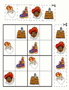 sudoku sinterklaas                                                                                                                                                                                 Plus Diy For Kids, Crafts For Kids, Dyi Decorations, Theme Noel, Christmas Diy, Party Themes, Saints, Advent, December