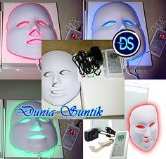 PDT LED Facial Mask Skin Rejuvenation  Pengaruh Mask Led :  a. Membunuh bakteri yang menyebabkan bintik-bintik dan jerawat b. Alternatif untuk obat oral c. Mencegah jerawat d. Meminimalkan jaringan parut e. Led terapi cahaya masker sangat efektif untuk jenis perawatan kulit.