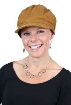 Vegan Suede Newsboy Cap for Women with Small Heads. Fully lined for chemo  patients! c186481812e