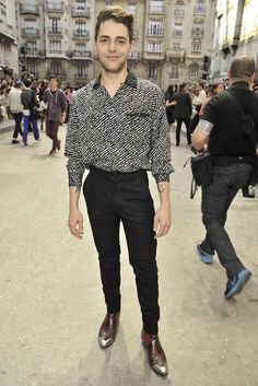 Xavier Dolan at Chanel Spring. 2015. Paris
