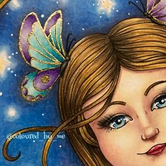 Ivy and the Inky Butterfly Johanna Basford Books, Johanna Basford Coloring Book, Adult Coloring, Coloring Books, Polychromos, Gold Ink, Coloured Pencils, Gel Pens, Mandala Art