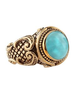 Shield-Set Turquoise Ring by Stephen Dweck at Last Call by Neiman Marcus.
