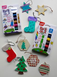 Kwik Stix Painted Ornaments! Check Kwik Stix out in your local Target Stores!