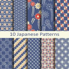 Find Set Ten Japanese Patterns stock images in HD and millions of other royalty-free stock photos, illustrations and vectors in the Shutterstock collection. Textile Pattern Design, Textile Patterns, Pattern Paper, Flower Patterns, Print Patterns, Japanese Pen, Japanese Fabric, Chinese Patterns, Japanese Patterns