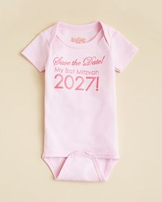 c93baefaebf Sara Kety Infant Girls  Bar Mitzvah Bodysuit - Sizes 0-18 Months Kids - Baby  - Newborn (0-9 months) - Bloomingdale s