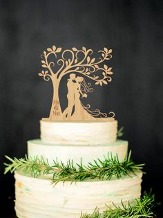 Bride and Groom Wood Cake Topper will bring you an opportunity to personalize your wedding cake and will help to make it unique. Personalized
